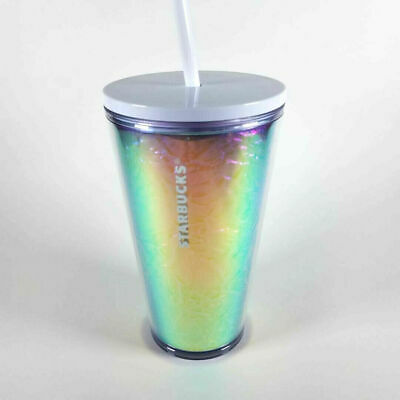 Starbucks Holiday 2019 Holographic Silver Rainbow Grande Tumbler Cold Cup