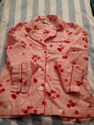 Victorias secret FLANNEL PAJAMAS polk a dot TOP SLEEP Wear size XS