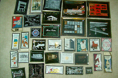 Collection of 36 Houze Art Glass Trays from the 1960s and 1970s