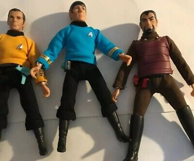 Mego Star Trek TOS action figures vintage 1970s.