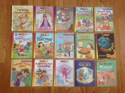 Lot of 15 A HAPPY DAY Religious Books for Children BIBLE STORIES & More ~ VGC