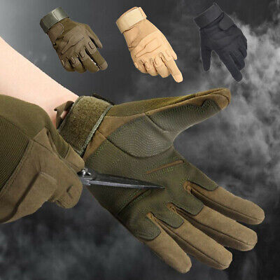 Tactical Gloves,Tough Outdoor Combat Gloves Full Finger Cycling Riding Gloves US