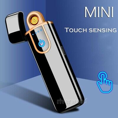 Windproof Lighter Electric Double Arc Flameless Plasma Torch USB Rechargeable