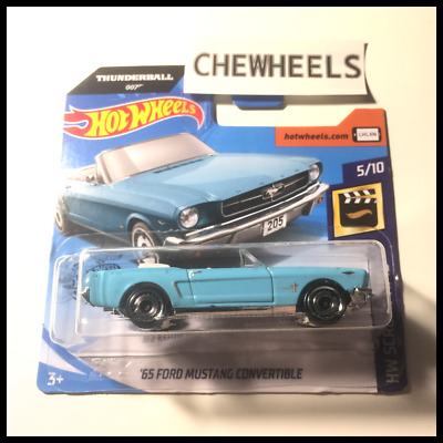 Hotwheels 2020 65 Ford Mustang Convertible Thunderball 007 - Hw Hot Wheels 1/64