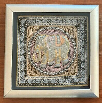 Chinese Embroidered  Rank Badge - Elephant. Framed
