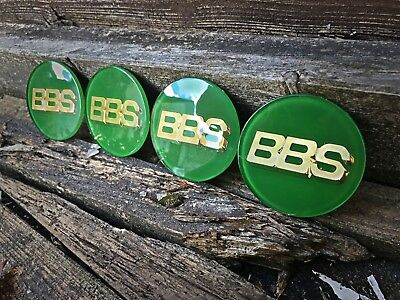 BBS FLAT BACKED SELF ADHESIVE 70mm Badge Stickers Caps RED BLUE WHITE GREEN GOLD