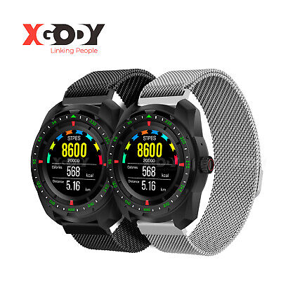 XGODY Smart Watch Bluetooth Calling Heart Rate Fitness Tracker Fit Android & iOS