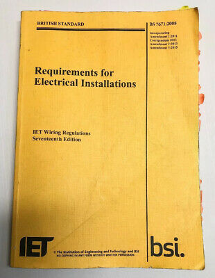 IET 17th Edition, BS7671:2008