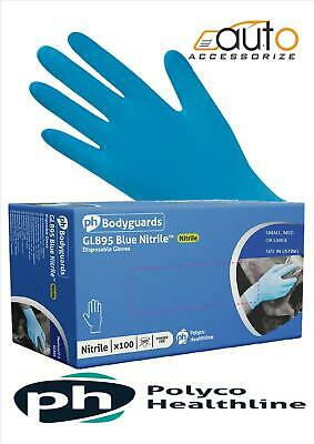 10 x 100 Bodyguard 4 Blue Nitrile Powder Free Disposable Gloves MED GL895 POLYCO
