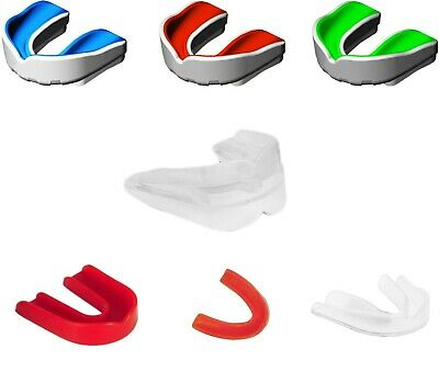 Gum Shield Mouth Guard Teeth Protect for Rugby Hockey Boxing WHITE BY F2F