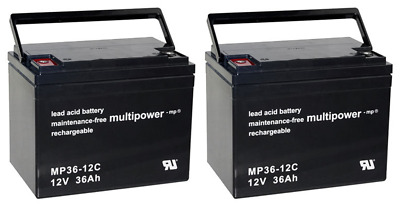 Rechange Pour Ortopedia Citipartner 3/4 2x Multipower 12V - 36Ah Cycles AGM