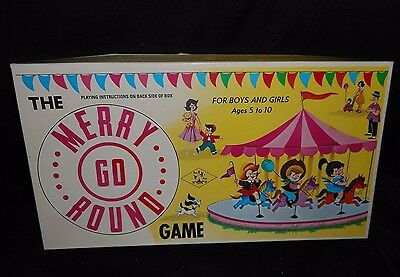 Vintage Jessup Paper Box Co Merry Go Round Board Game Spinner 100% Complete