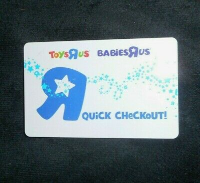 Toys R Us Babies R Us Quick Checkout 2011 Buster Giftcard Card No Value