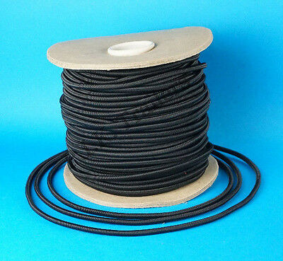 50 Metres 6mm BLACK Elastic Bungee Shock Cord Trailer Cover Tie Down