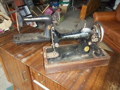 Job Lot S Vintage Singer Sewing Machines For Spares Or Repair.