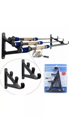 Wall Mounted Fishing Rod Rack for 6 Fishing Rods Fishing Pole Storage Rack Y8T8