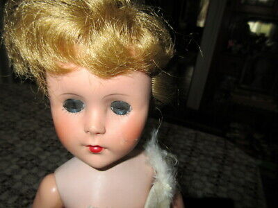 VINTAGE BALLERINA DOLL MADE IN USA BLONDE HAIR w BLUE SLEEP EYES EXTRA OUTFITS