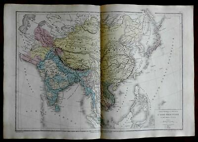 China Hindoostan Chinese Empire India Southeast Asia 1872 Belin map