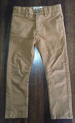 Urban Boys Tan Brown Chino Trousers 4 Years Elasticated Waist Slim Leg
