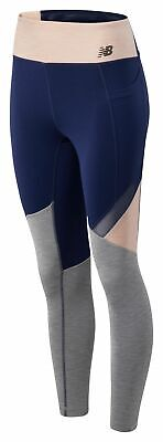 New Balance High Rise Transform Pocket Tight Womens Navy with Black /& Silver