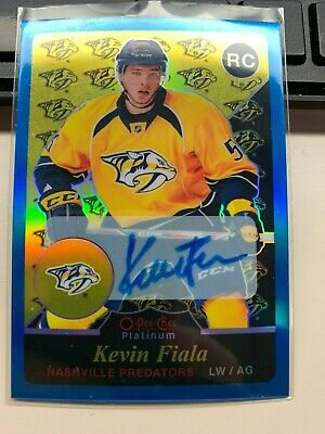 2015-16 OPC Platinum RETRO BLUE RAINBOW auto Rookie RC card KEVIN FIALA