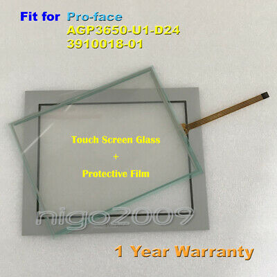New for Pro-face AGP3650-U1-D24  3910018-01 Touch Screen Glass + Protective Film