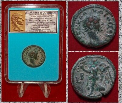 Ancient Roman Empire Coin CLAUDIUS GOTHICUS Alexandria Nike Tetradrachm