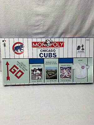 2002 Hasbro Monopoly Chicago Cubs Edition Board Game--Complete