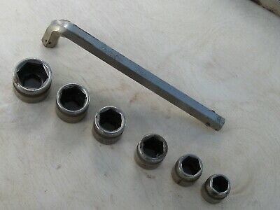 "Indestro Mfg Corp 1/2 "" Hex  Socket Complete Set   Made In Usa"