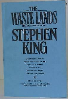 Stephen King / The Waste Lands The Dark Tower Book III Uncorrected #003394