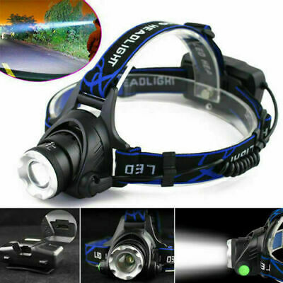 90000LM Zoomable LED Headlamp Rechargeable Headlight CREE XML T6 Head Torch New