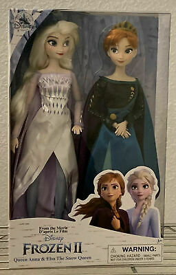 Disney Store FROZEN 2 Queen Anna & Elsa the Snow Queen Doll Set NEW SOLD OUT