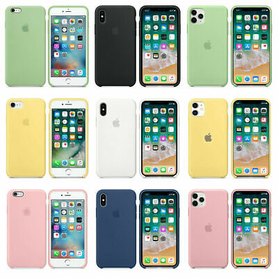 Genuina Funda para Apple iPhone 6s 7 8 Plus XS XR Original carcasas de Silicona