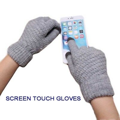 New Spring Unisex Warm Stretch Knit Mittens Finger Guantes Touch Screen Gloves