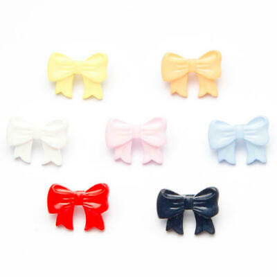 Childrens Bow Shape Button 17mm x 12mm Plastic Shank Novelty Buttons