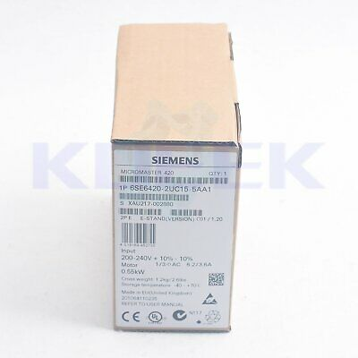 1PC NEW Siemens 420 series inverter 6SE6420-2UC15-5AA1 0.55KW 220V Fast delivery