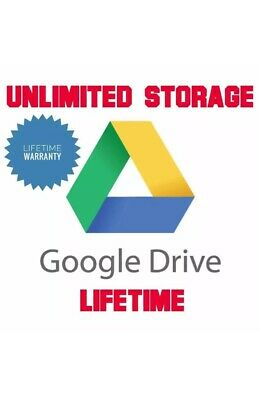 Unlimited Google Drive Cloud Storage Account [Lifetime] VERY FAST DELIVERY SAFE
