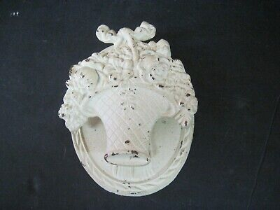 Vintage Cast Iron Basket Of Flowers Door Knocker