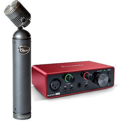 Focusrite Scarlett Solo (3rd Gen) Interface with Blue Hummingbird Microphone