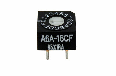 Omron Electronics Flat 2.54mm Sealed Rotary DIP Switch A6A-16CF