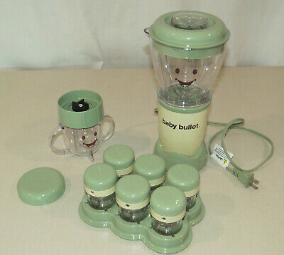 Baby Bullet Baby Food Maker System Set, Base, Blades, Storage
