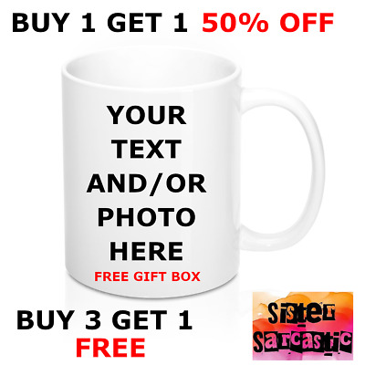 Personalised Photo Mug Custom Cup Name Gift Design Birthday Valentine's Funny