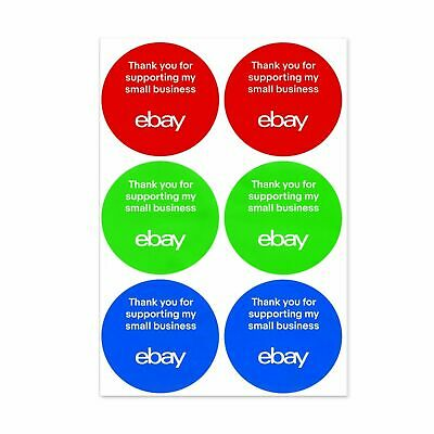"""eBay-Branded 3-Color Round Small Business Sticker Multi-Pack 3"""" x 3"""" 200 Ct. NEW"""
