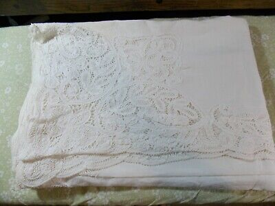 Antique European Lace Table Cloth Approx 68 X 96