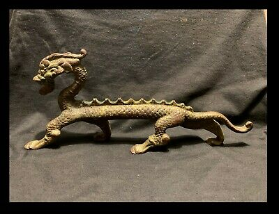 "Mid-Late 19Th C Antique Bronze Chinese Dragon 11"" From Christie's"