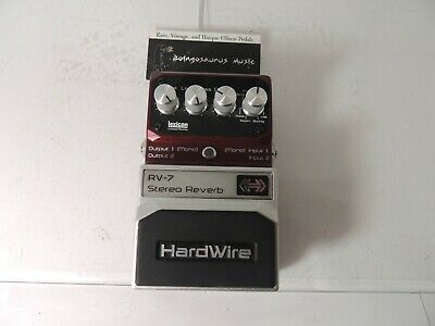 Digitech RV-7 Hardwire Stereo Reverb Effects Pedal RV7 Free USA Shipping