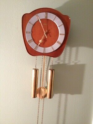 BEAUTIFUL JUNGHANS MID CENTURY Wall Clock LOUDSPEAKER Chime (Mauthe-Hermle Era)