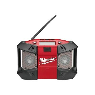 Milwaukee Compact Radio Job Site with AUX Input, M12 battery/Mains Loud + Robust