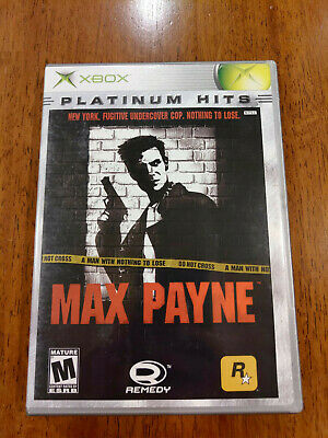 Max Payne (Xbox, 2001) VERY GOOD COMPLETE! DISC NEAR MINT! MAIL IT TOMORROW!