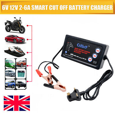 6v 12v Volt Sealed Lead Acid Battery Charger Adapter Motorbike Quad Bike Car Toy